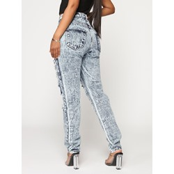 Hole Plain Skinny Women's Jeans