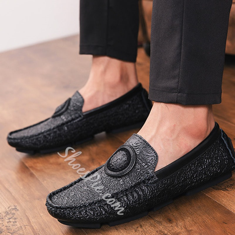 Shoespie Men's Slip-On Low-Cut Upper Round Toe Loafers