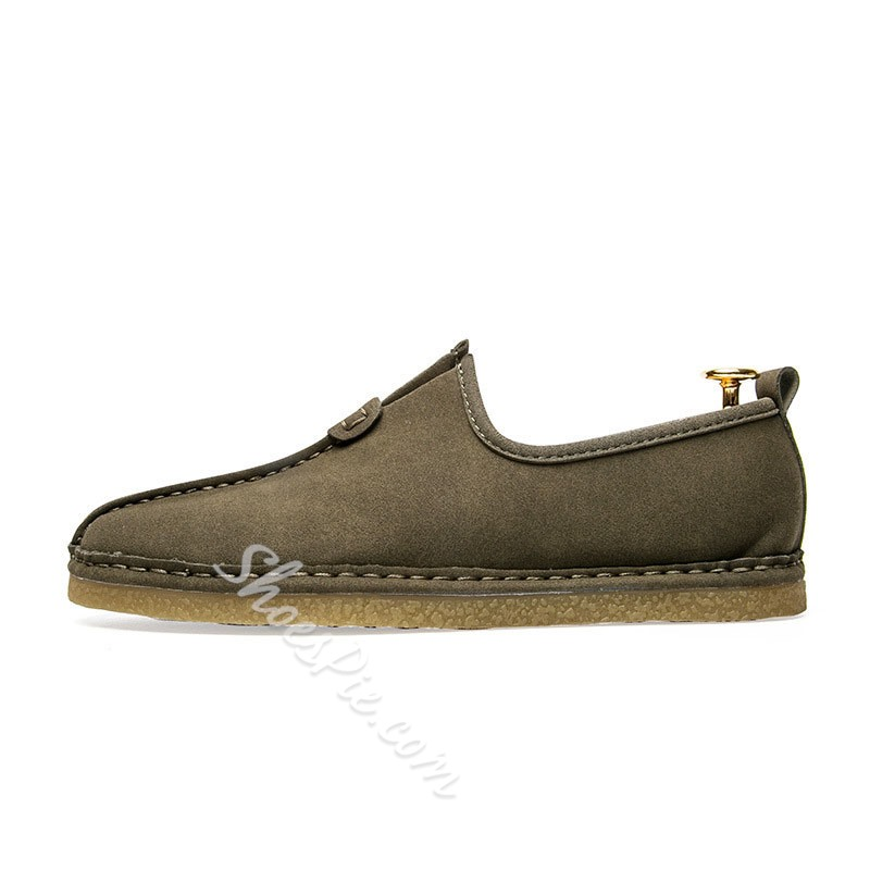 Shoespie Men's Low-Cut Upper Plain Slip-On PU Loafers
