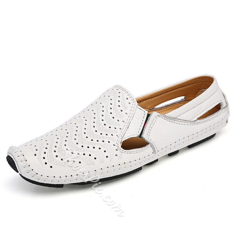Shoespie Men's Slip-On Low-Cut Upper Square Toe Loafers