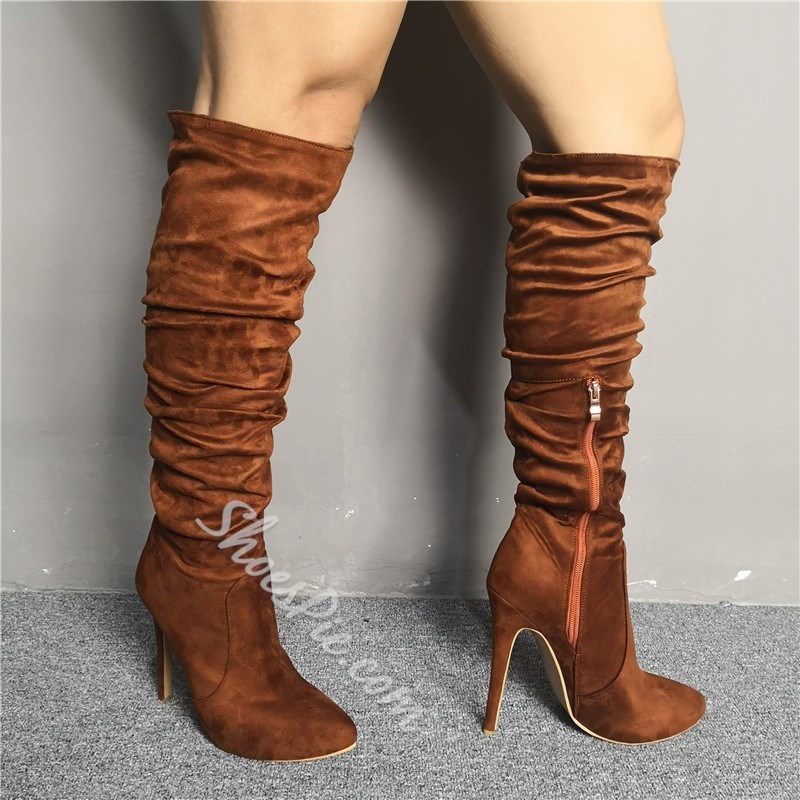 Shoespie Trendy Pointed Toe Side Zipper Boots