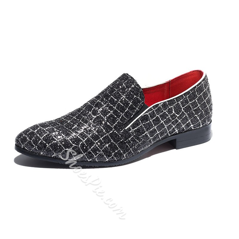 Shoespie Men's Color Block Low-Cut Upper Slip-On Microfiber Thin Shoes
