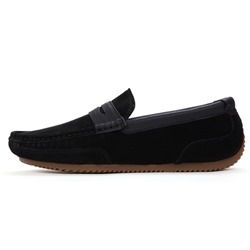 Shoespie Men's Slip-On Patchwork Low-Cut Upper Round Toe Lofers