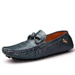 Shoespie Men's Slip-On Plain Low-Cut Upper PU Thin Shoes