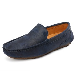 Shoespie Men's Low-Cut Upper Plain Slip-On Microfiber Loafers
