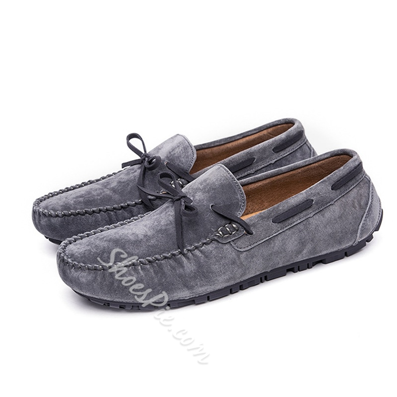 Shoespie Men's Slip-On Low-Cut Upper Round Toe Simple Loafers