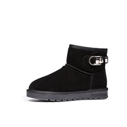 Shoespie Trendy Round Toe Slip-On Plain Casual Boots