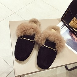 Shoespie Sexy Slip-On Closed Toe Block Heel Fall Slippers