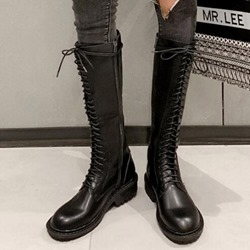 Shoespie Sexy Plain Round Toe Side Zipper Cotton Boots