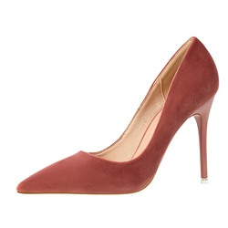 Shoespie Sexy Pointed Toe Stiletto Heel Thread Plain Thin Shoes