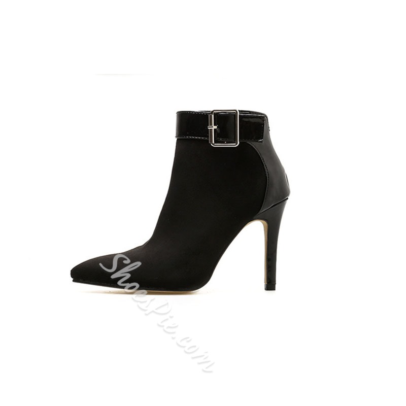 Shoespie Sexy Side Zipper Stiletto Heel Color Block Sexy Boots