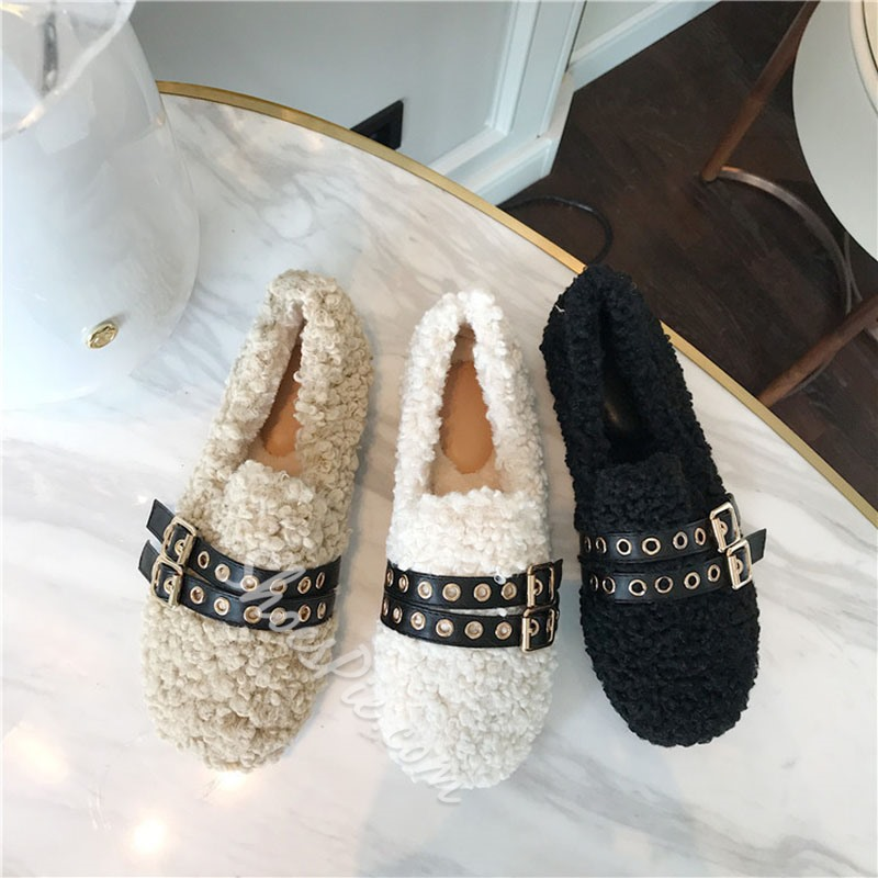 Shoespie Sexy Round Toe Slip-On Korean Thin Shoes