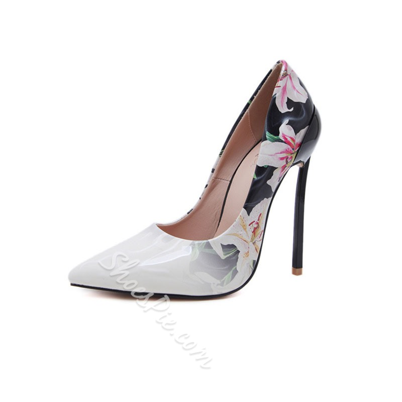 Shoespie Trendy Pointed Toe Slip-On Stiletto Heel Sweet Thin Shoes