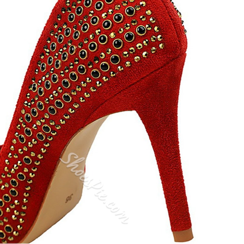 Shoespie Stylish Slip-On Pointed Toe Stiletto Heel Low-Cut Upper Thin Shoes