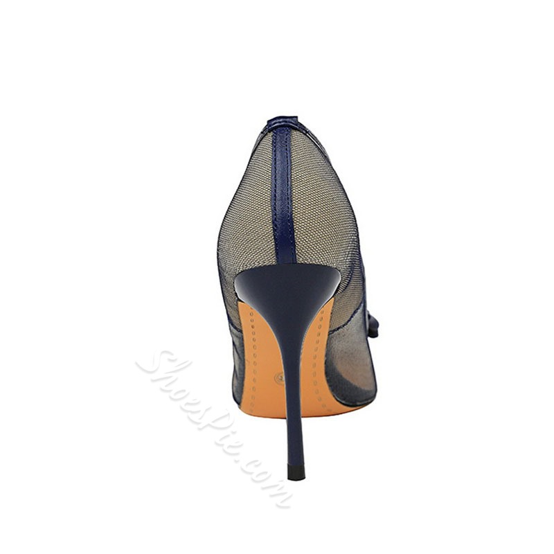 Shoespie Stylish Stiletto Heel Hollow Pointed Toe Patchwork Thin Shoes