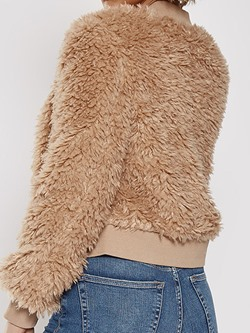 Straight Thick Nine Points Sleeve Winter Women's Jacket