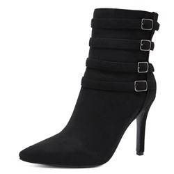 Shoespie Stylish Stiletto Heel Side Zipper Plain Casual Boots