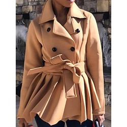 Slim Double-Breasted Fall Women's Overcoat