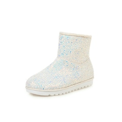 Shoespie Stylish Color Block Slip-On Round Toe Casual Boots