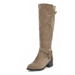 Shoespie Trendy Plain Round Toe Side Zipper Casual Boots