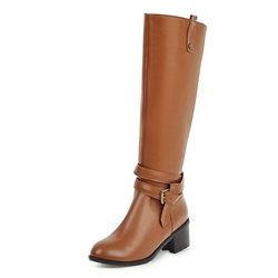 Shoespie Stylish Round Toe Side Zipper Plain Casual Boots
