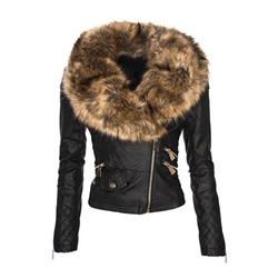 PU Standard Zipper Fall Women's PU Jacket