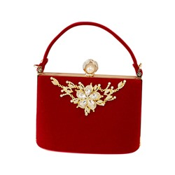 Shoespie Square Cotton Banquet Clutches & Evening Bags