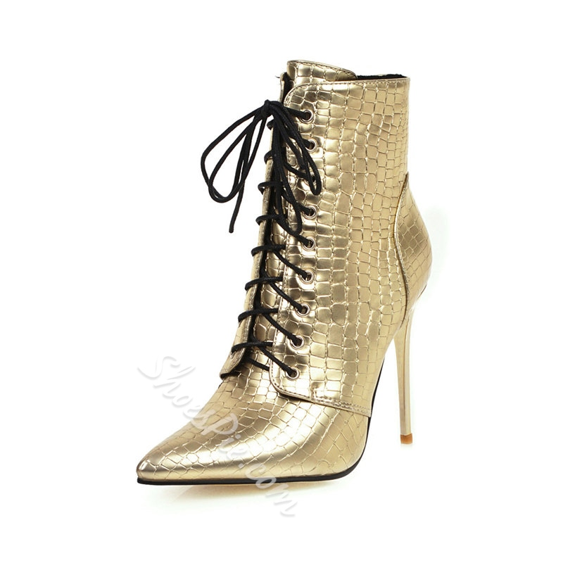 Shoespie Sexy Pointed Toe Color Block Side Zipper Fashion Boots