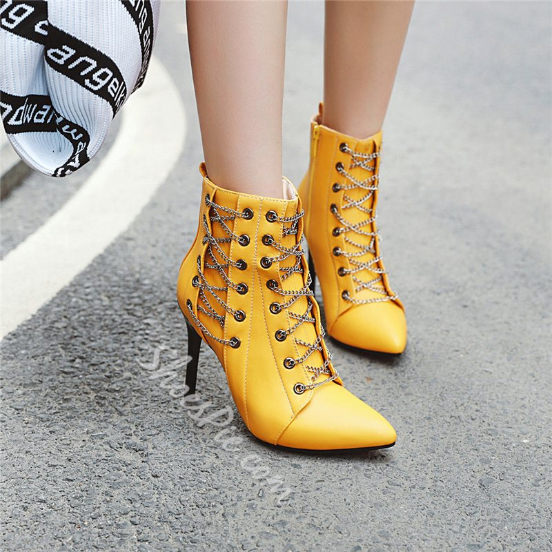 Shoespie Stylish Stiletto Heel Side Zipper Plain Fashion Boots