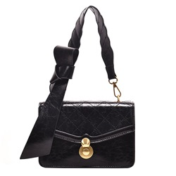 Shoespie Lock PU Flap Crossbody Bags
