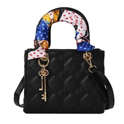 Shoespie Thread Plaid PU Rectangle Tote Bags