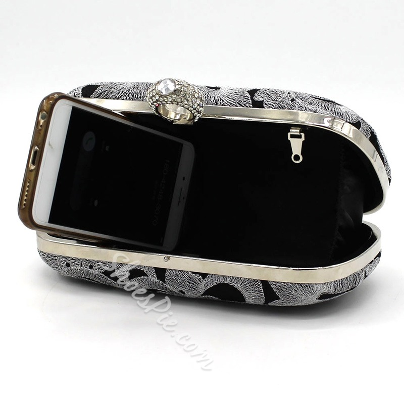 Shoespie Floral Rectangle Banquet Clutches & Evening Bags