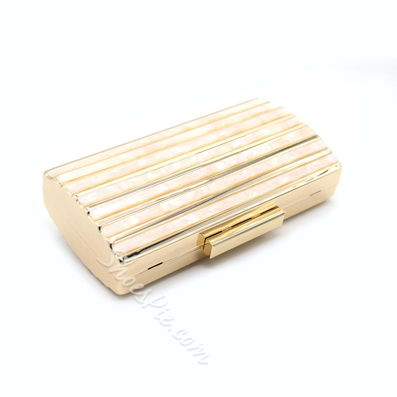 Shoespie Rectangle Stripe Versatile Clutches & Evening Bags