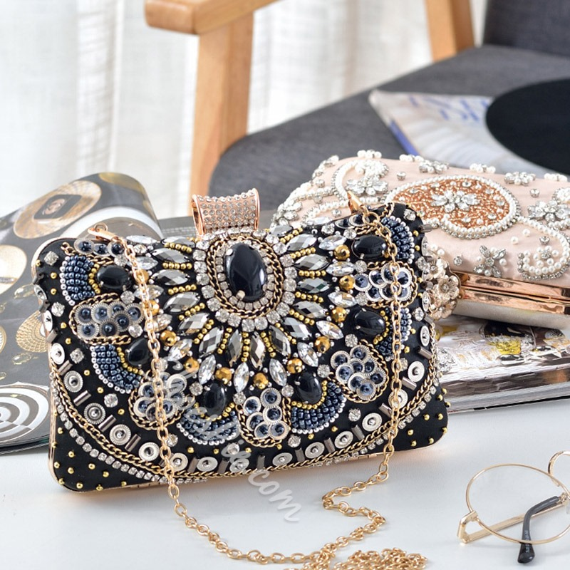 Shoespie Banquet Flap Rhinestone Clutches & Evening Bags