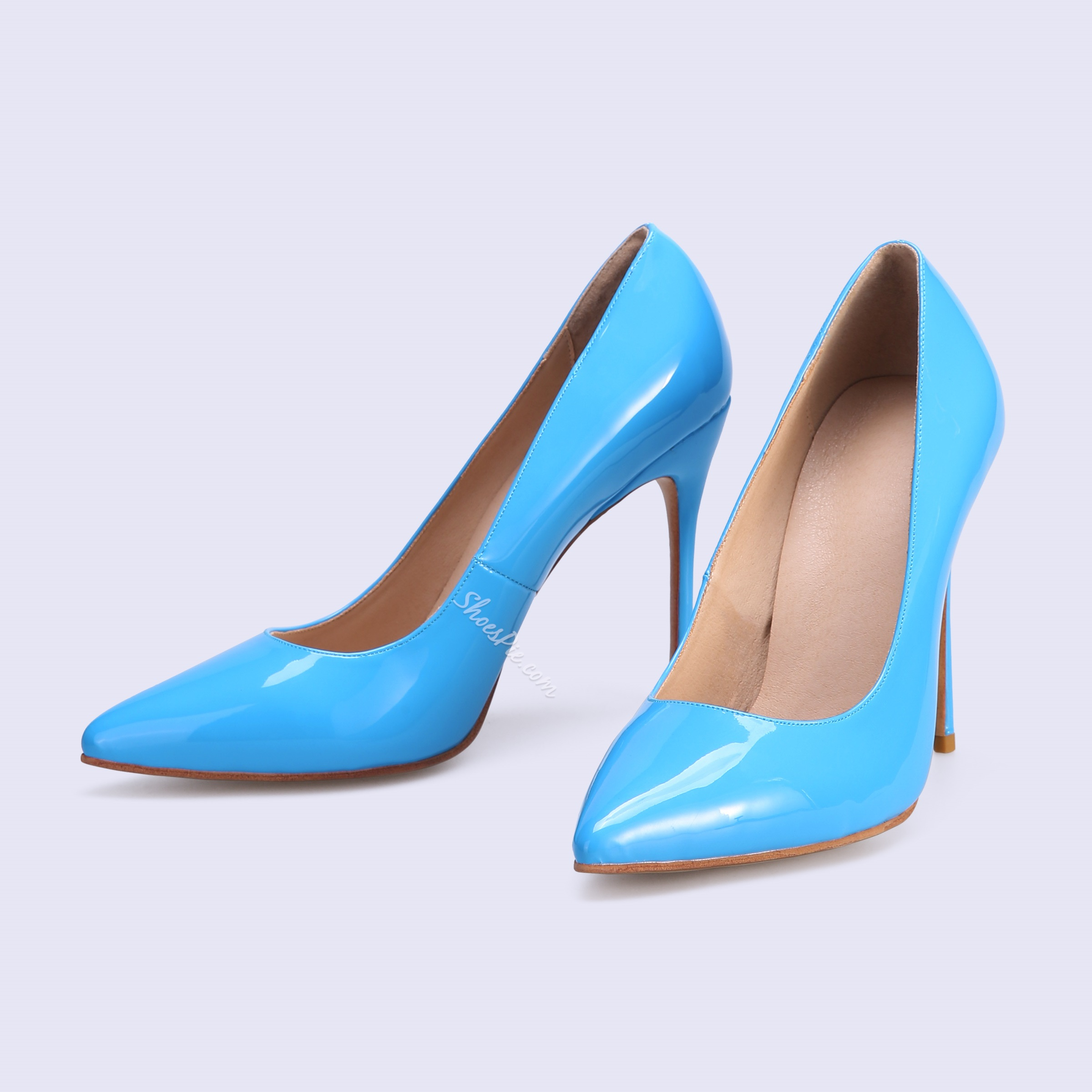 Shoespie Sexy Blue Pointed Toe Stiletto Heels