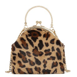 Shoespie Leopard Chain Tote Bags