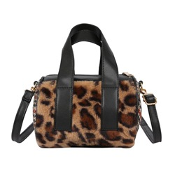 Shoespie PU Leopard Thread Pillow Tote Bags