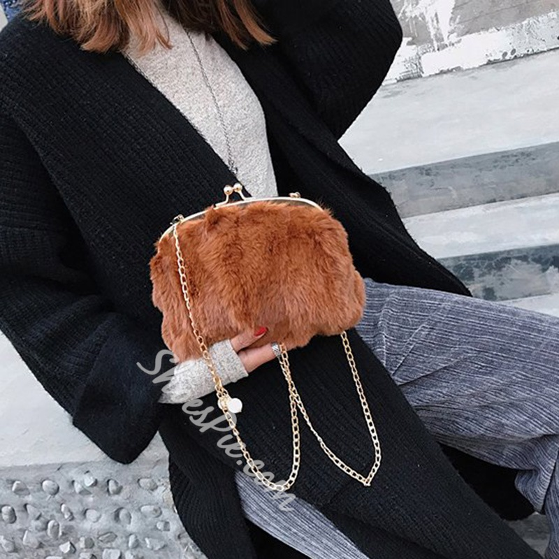 Shoespie Chain Plain Crossbody Bags