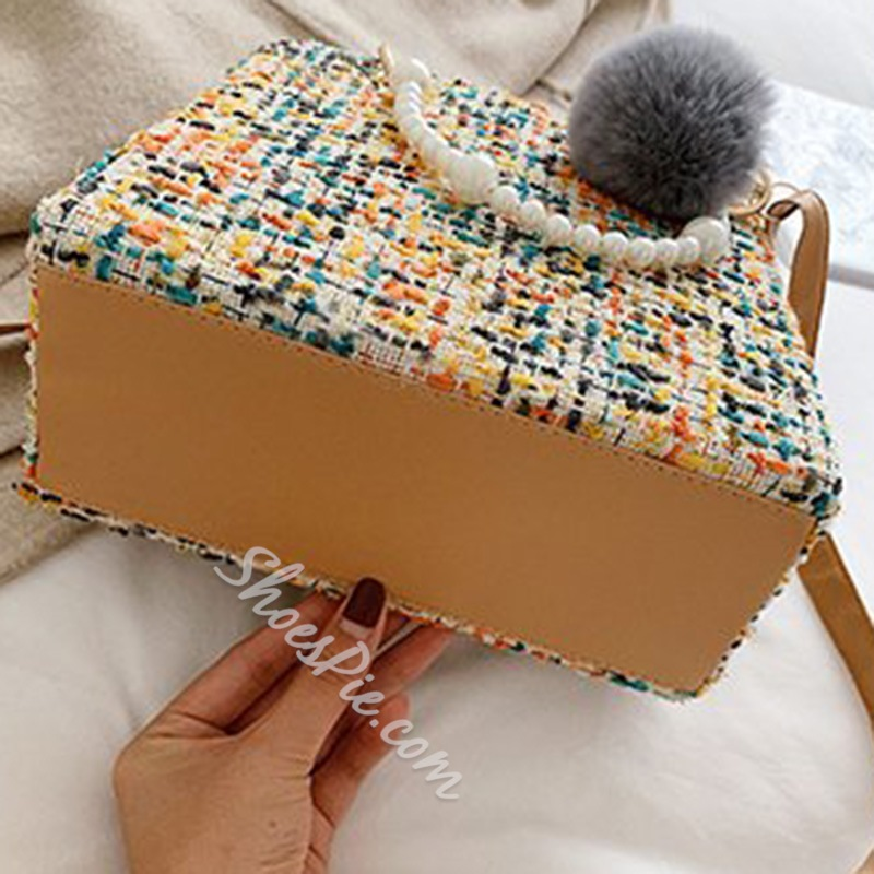 Shoespie Thread Wool Blends Rectangle Tote Bags
