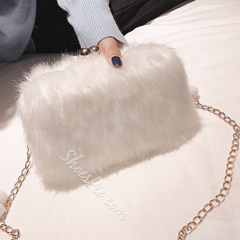 Shoespie Chain Plain Rectangle Crossbody Bags