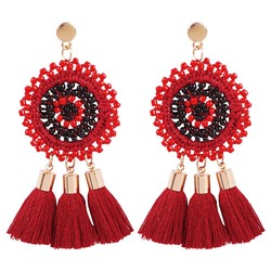 Color Block Handmade Bohemian Prom Earrings