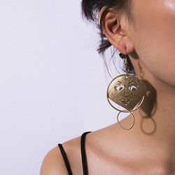 Alloy E-Plating Figure Prom Earrings