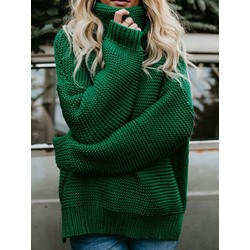 Regular Patchwork Regular Long Sleeve Women's Sweater