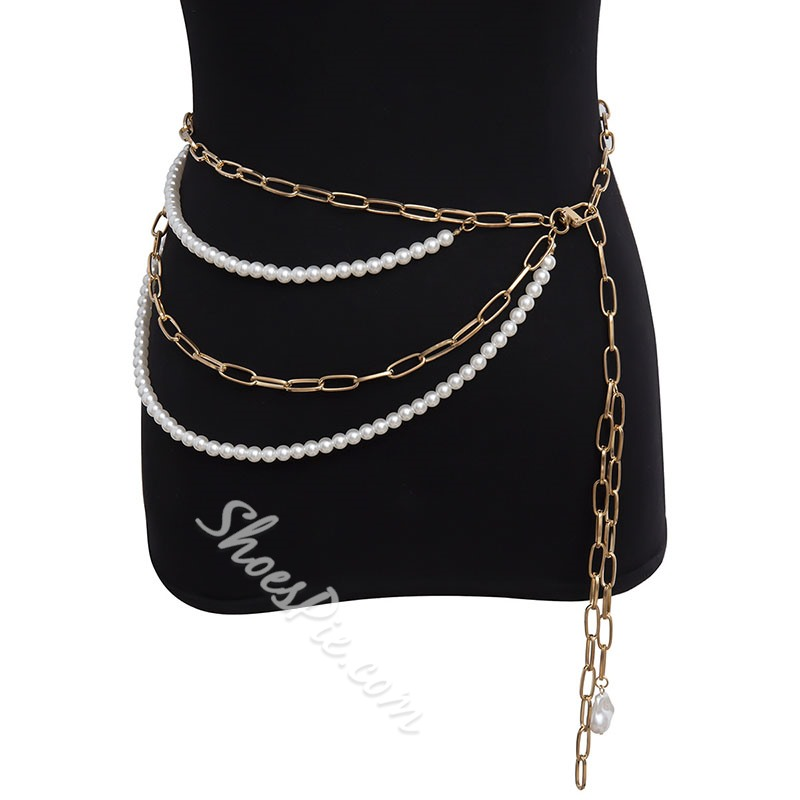 Vintage Female Metal Waist Chains