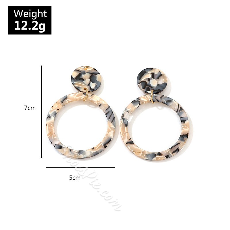 Acrylic European E-Plating Party Earrings