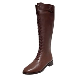 Shoespie Sexy Back Zip Plain Round Toe Casual Boots