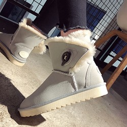 Shoespie Trendy Round Toe Slip-On Korean Boots