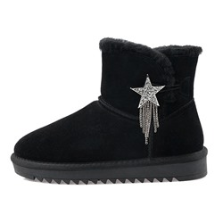 Shoespie Stylish Star Round Toe Hasp Buckle Boots