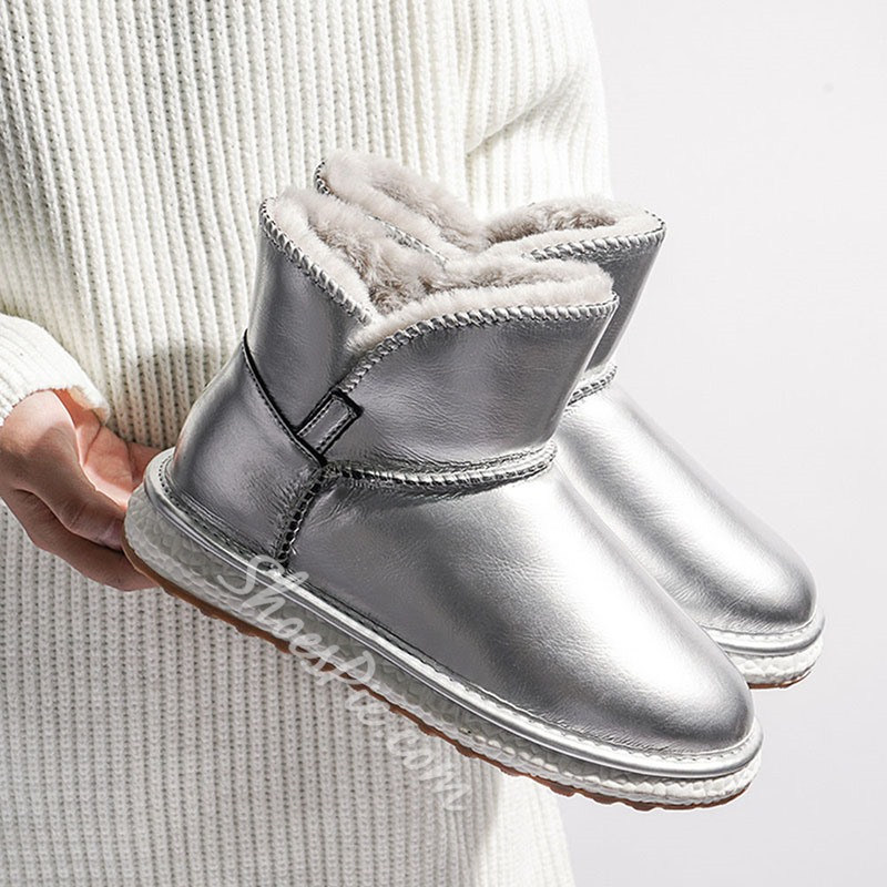 Shoespie Sexy Slip-On Plain Round Toe Thread Boots