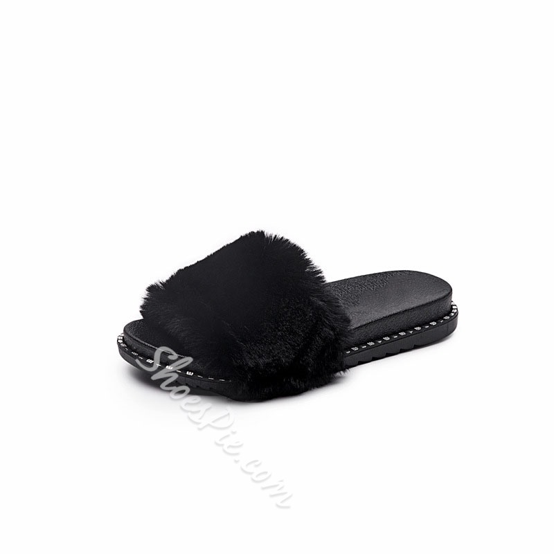 Shoespie Sexy Slip-On Flip Flop Flat With Rubber Slippers